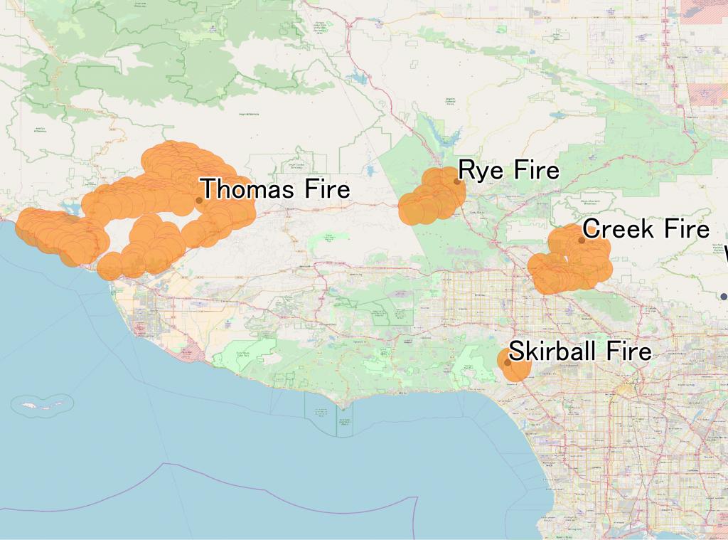 Thomas Fire - Wikipedia - Map Of Thomas Fire In California