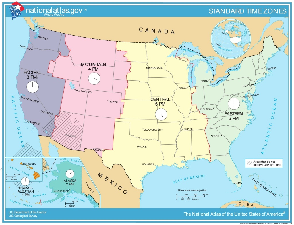 Time Zone Map Of Usa Awesome Printable Map United States Time Zones - Usa Time Zone Map Printable
