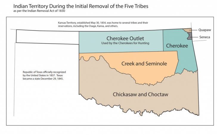 Texas Indian Tribes Map