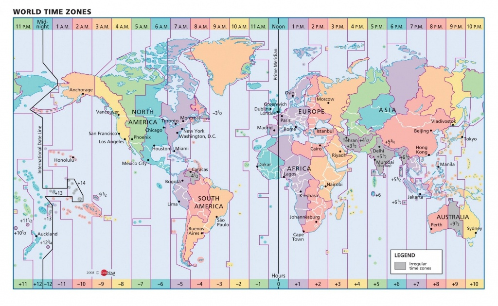 Timezone Map Of Us Color Map Of Us Time Zones Vector Map Usa State - Printable Time Zone Map For Kids