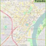 Toledo Downtown Map   Printable Map Of Toledo Ohio