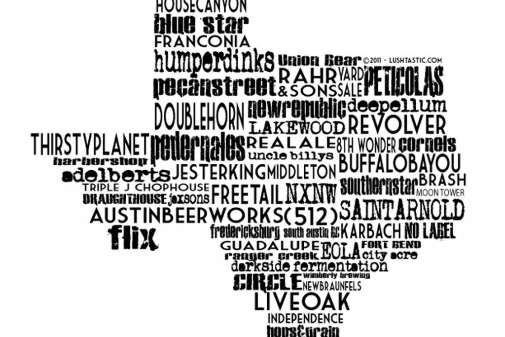 Top 10 Texas Craft Breweries - Good Bull Hunting - Texas Breweries Map