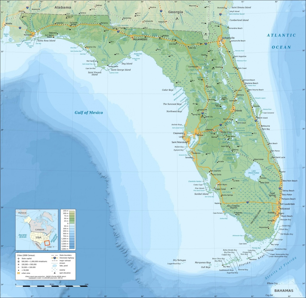 Topographic Map Of Florida | Geography Homeschool | Map, Florida - Gulf Of Mexico Map Florida