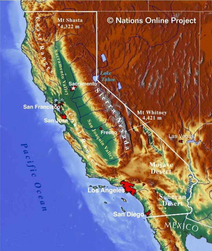 Topographical Map Of California Topographic Make Photo Gallery 867 - Topo Map Of California