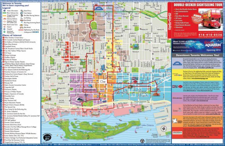 Printable Map Of Toronto