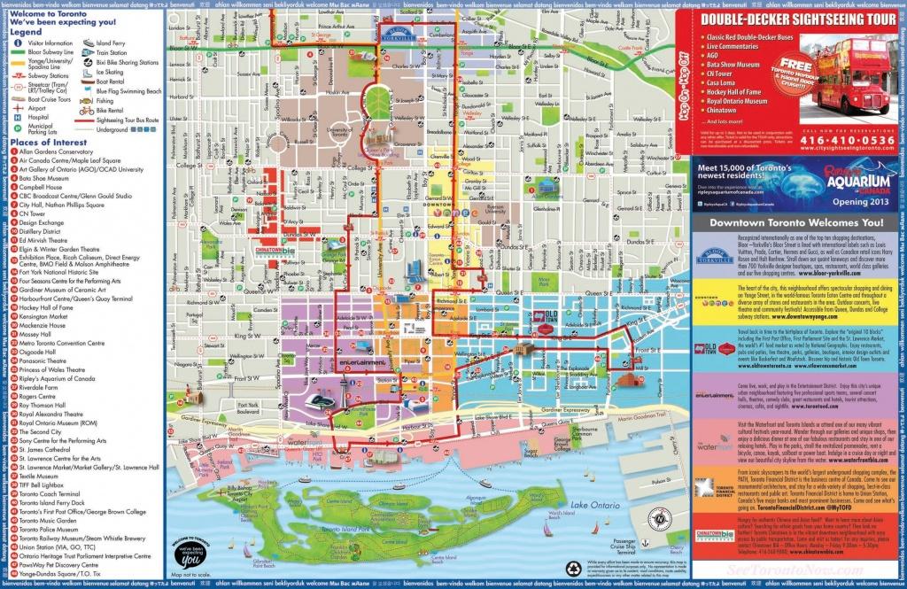 Toronto Maps | Canada | Maps Of Toronto - Printable Map Of Toronto