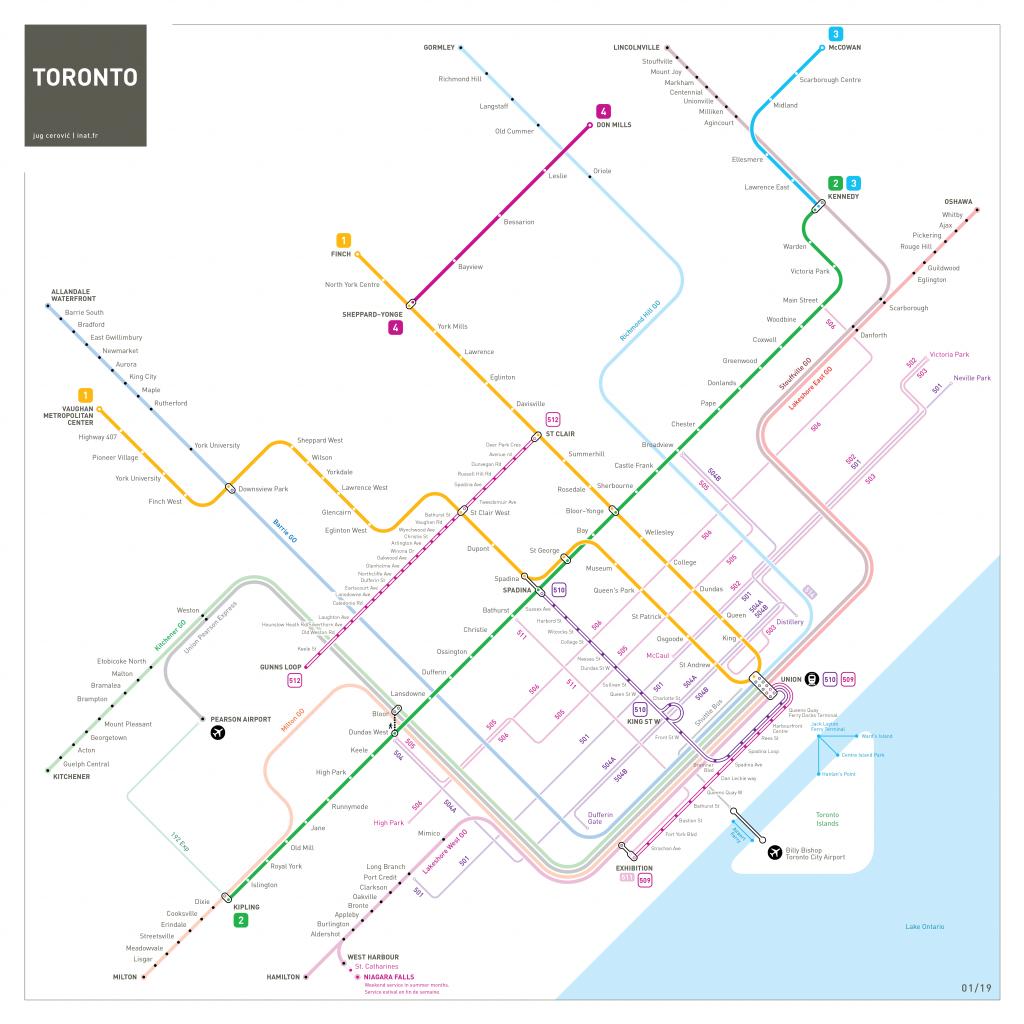 Toronto Metro Map : Inat - Toronto Subway Map Printable