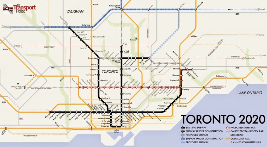 Toronto Subway And Rt Maps - Free Printable Maps - Toronto Subway Map Printable