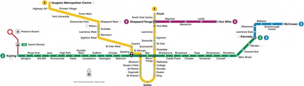 Toronto Subway Map 2019   Toronto-Info - Toronto Subway Map Printable