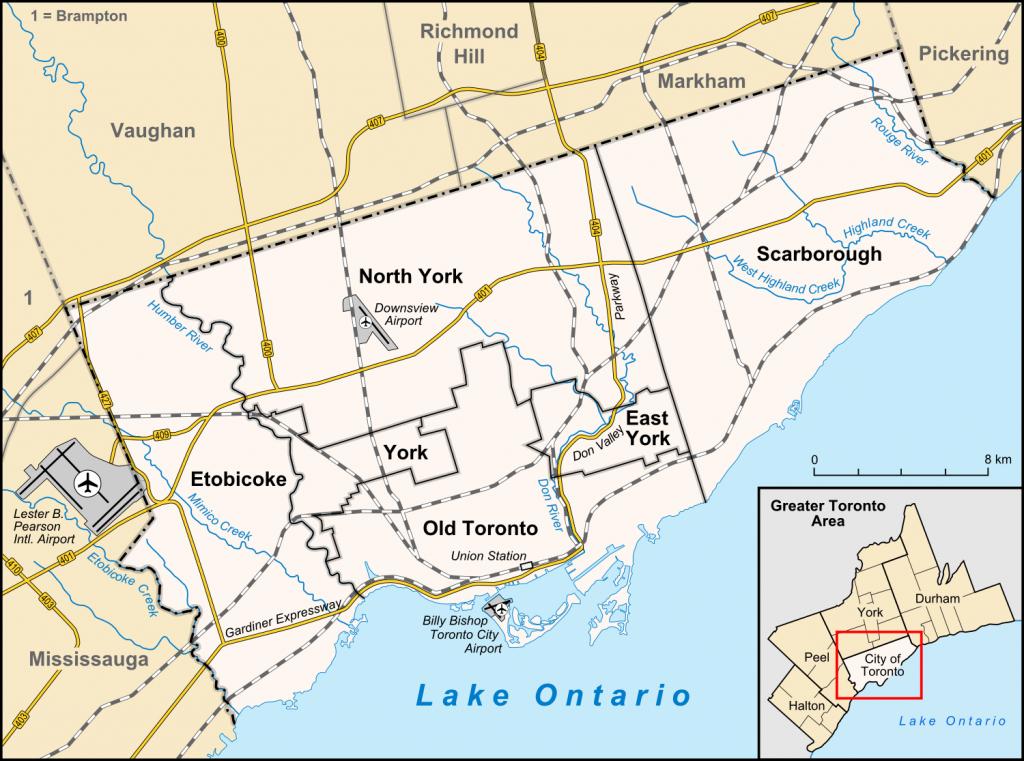 Toronto - Wikipedia - Toronto California Map