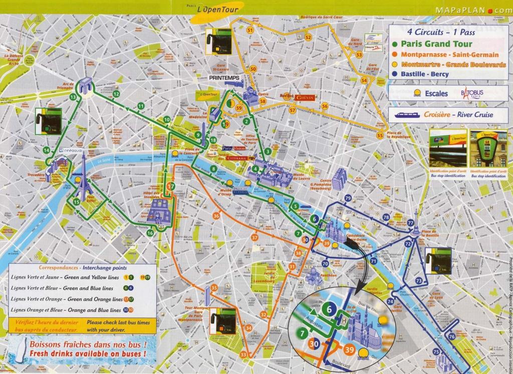 Tourist Attraction Map   Vacations - Paris   Paris Map, Paris - Printable Walking Map Of Paris