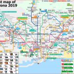 Tourist Map Of Barcelona, 49 Important Places For Tourists.   Printable Map Of Barcelona