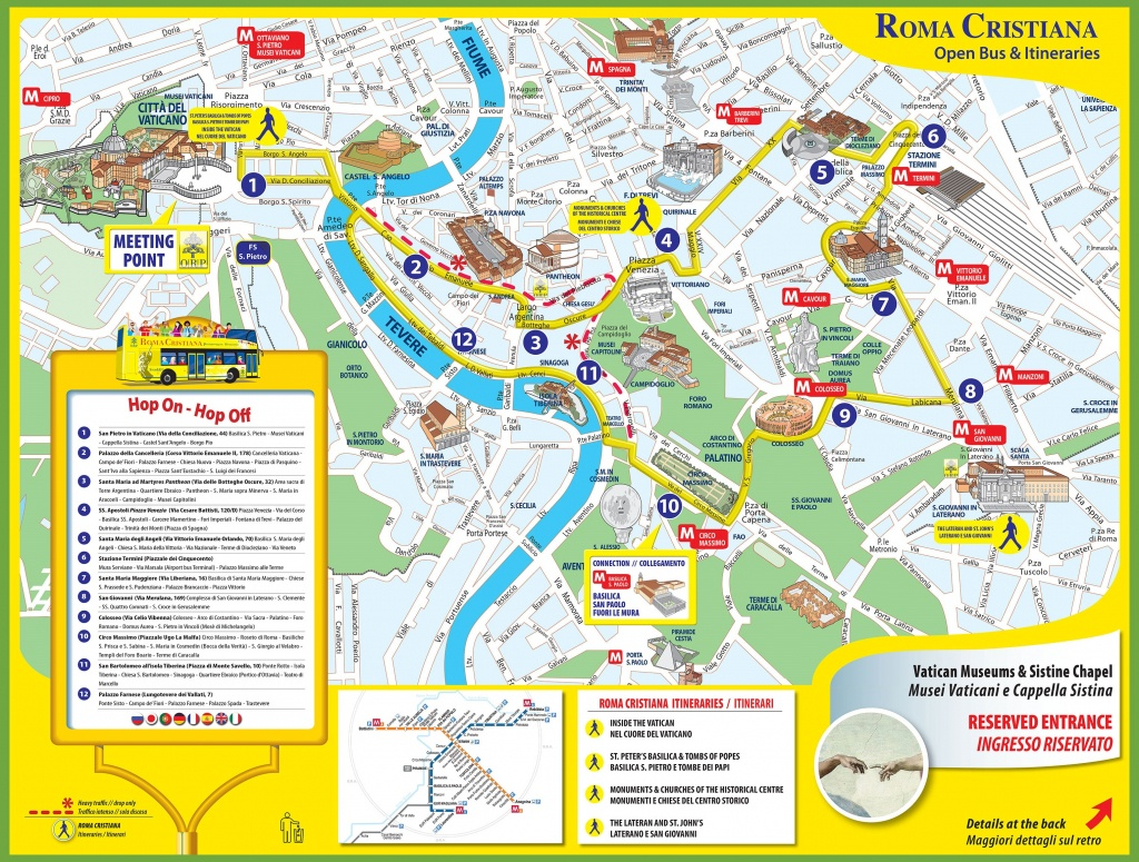 Tourist Map Of Rome City Centre - Rome City Map Printable