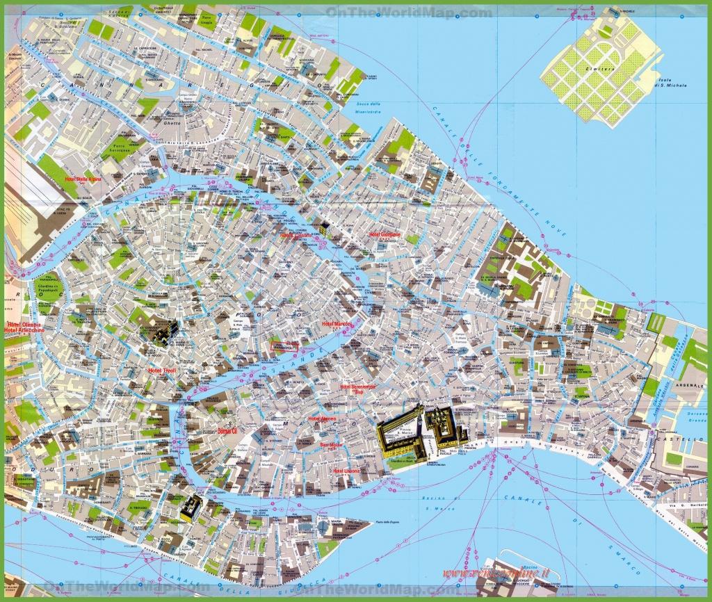 Tourist Map Of Venice City Centre - Venice City Map Printable
