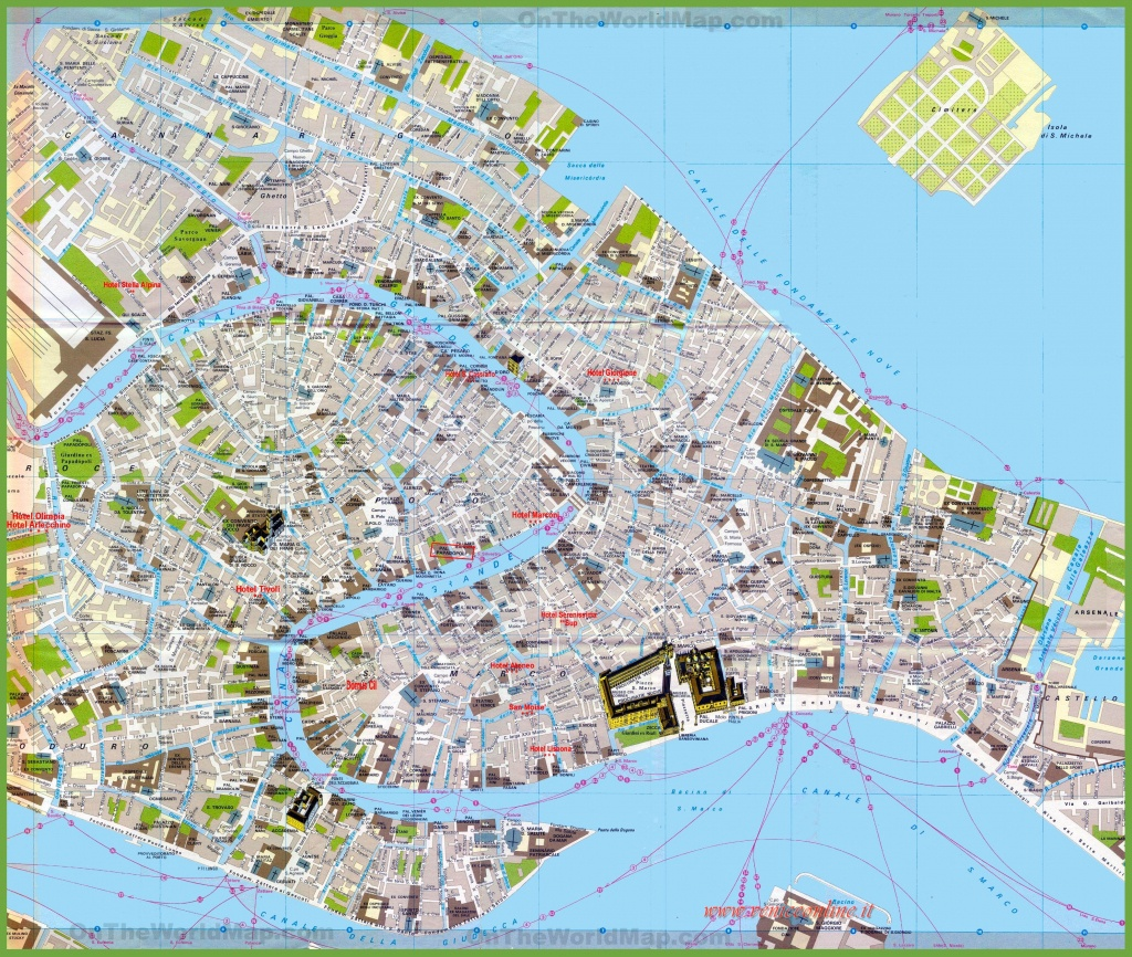 Tourist Map Of Venice City Centre - Venice Street Map Printable