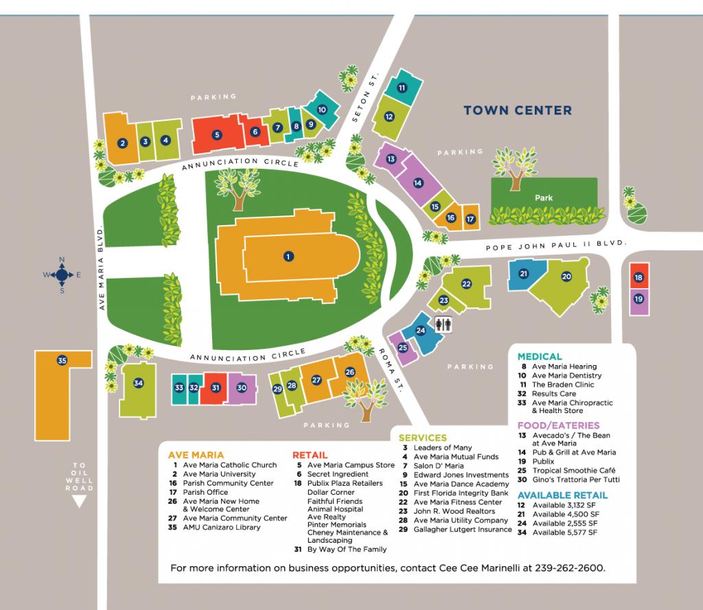 Town Center - Ave Maria - Ave Maria Florida Map