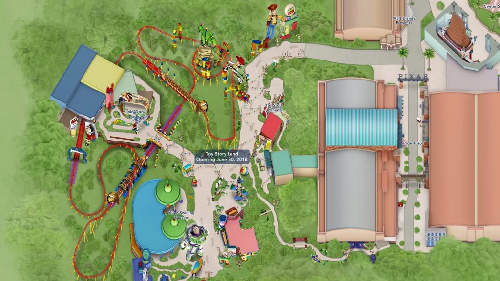 Toy Story Land Digital Maps Debut Online   Disney Parks Blog - Disney Parks Florida Map