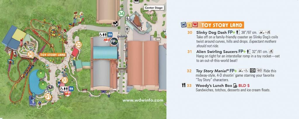 Toy Story Land Map At Walt Disney World - Toy Story Land Florida Map
