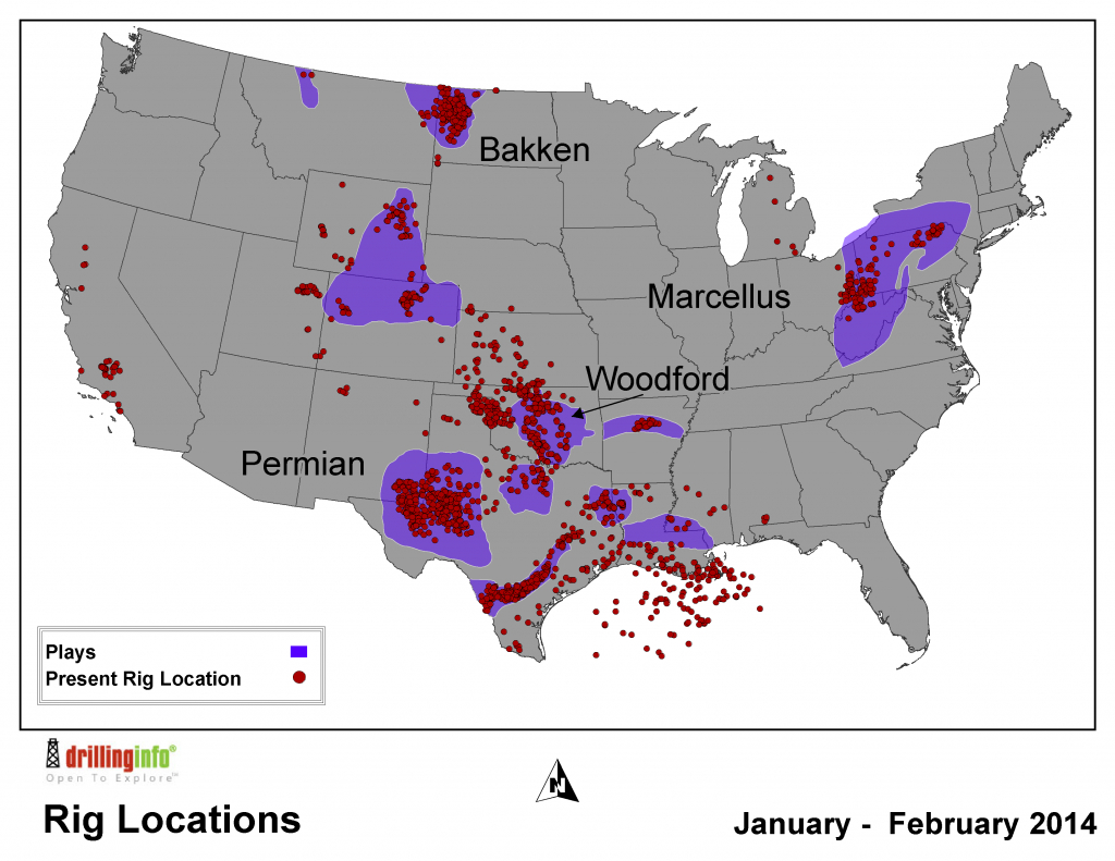 Tracking The Drilling Rig Feeding Frenzy - Map Of Drilling Rigs In Texas