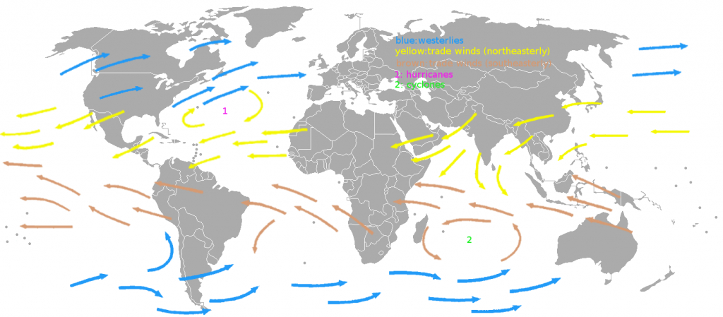 Trade Winds - Wikipedia - Texas Wind Direction Map