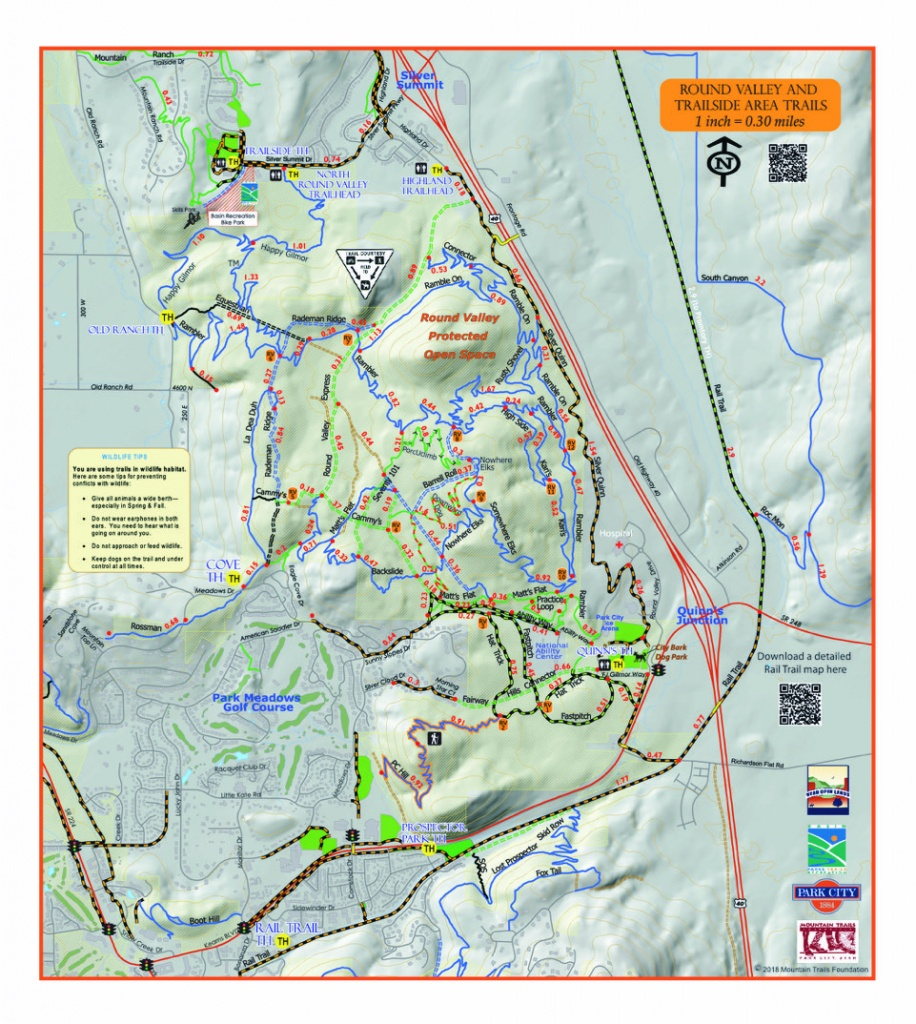 Trail System - Printable Hiking Maps