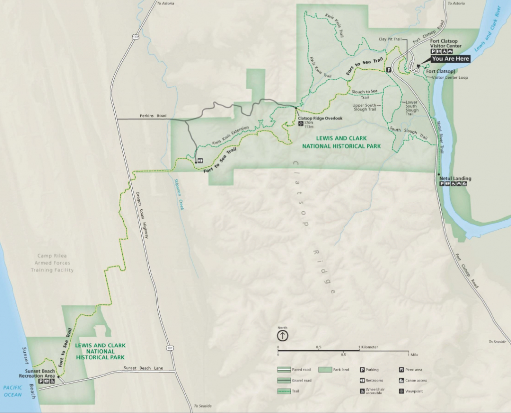 Trails - Lewis And Clark National Historical Park (U.s. National - Lewis And Clark Trail Map Printable