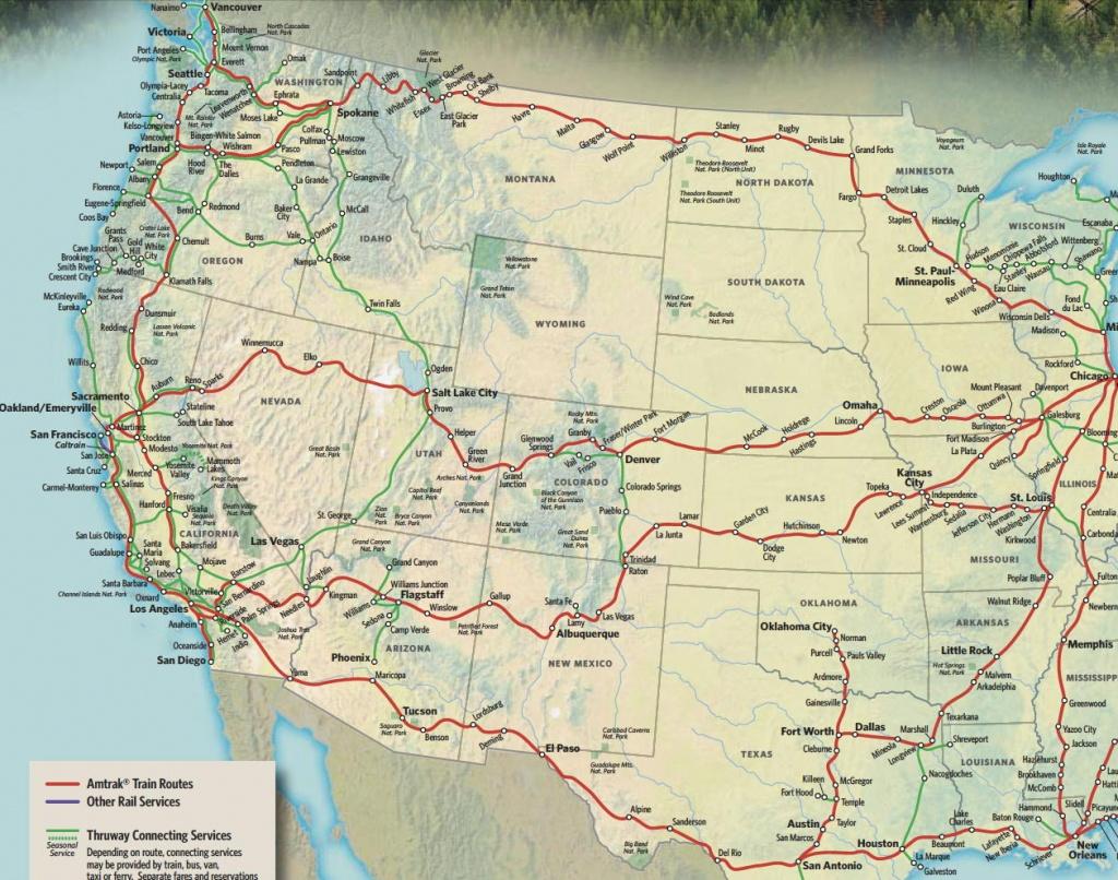Train Links California State Map California Zephyr Route Map Amtrak - California Zephyr Map