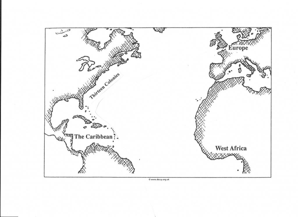 Transatlantic Slave Trade/triangular Trade Map   Geography Maps - Triangular Trade Map Printable