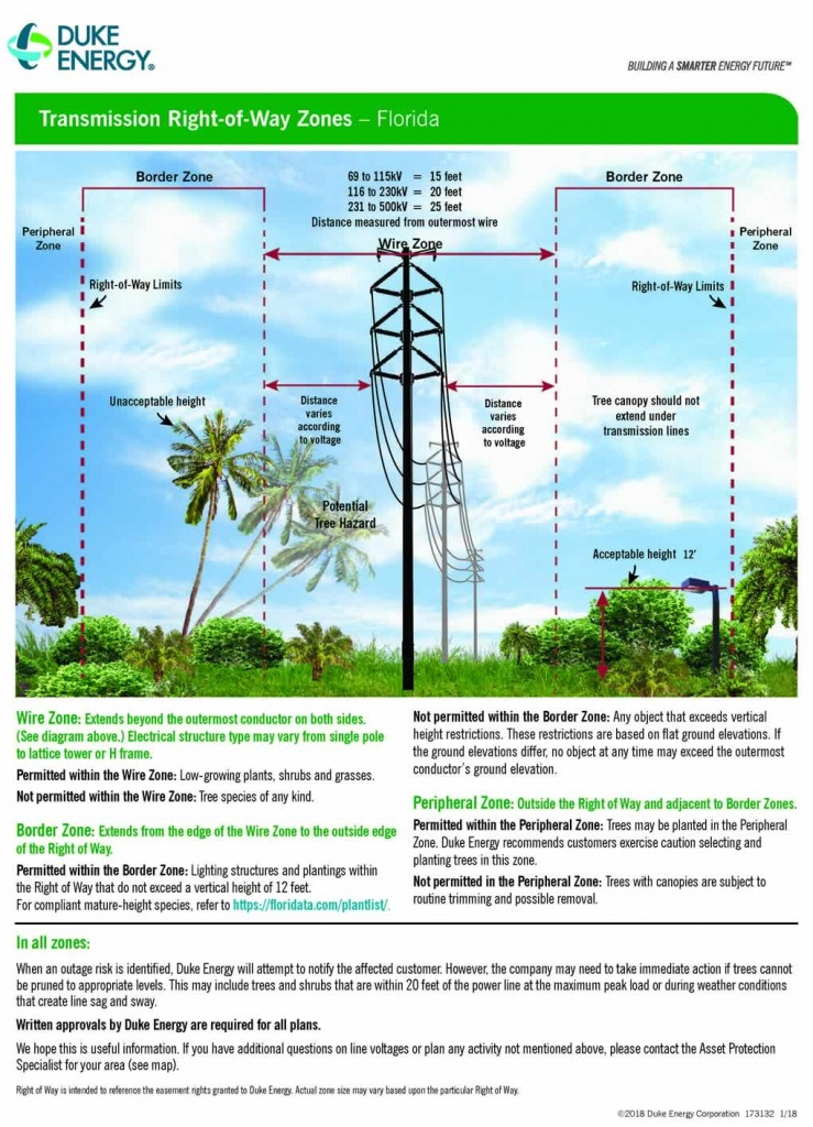 Transmission Right Of Way Use Guidelines - Duke Energy Transmission Lines Map Florida