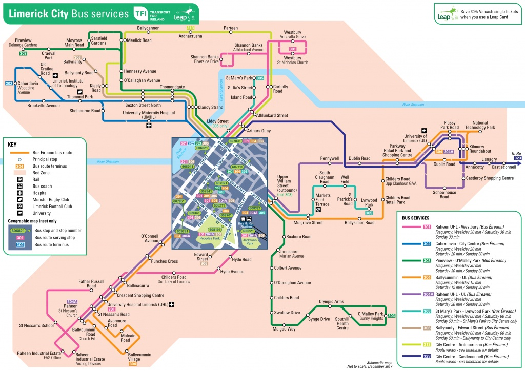 Transport For Ireland - Maps Of Public Transport Services - - Printable Map Route Planner