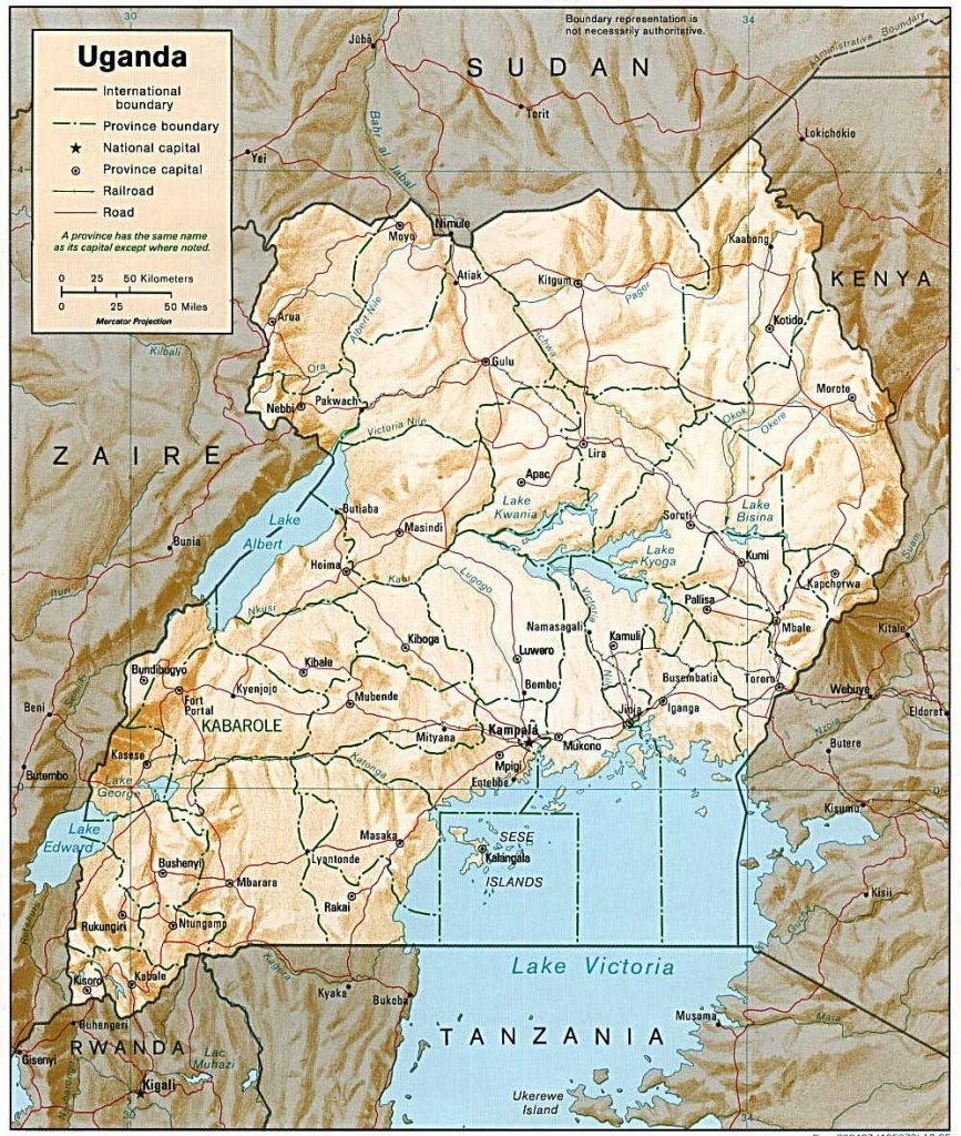 Transport In Uganda - Wikipedia - Printable Map Of Uganda