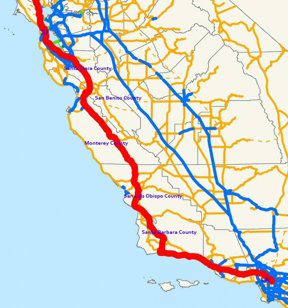 Traveling Highway 101 - A Road Trip Through Central California - Central California Road Map