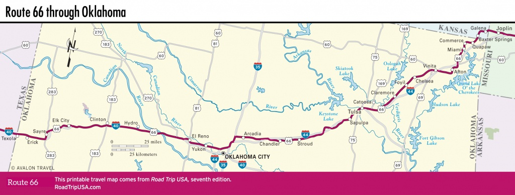 Traveling Route 66 Through Oklahoma | Road Trip Usa - Route 66 Texas Map