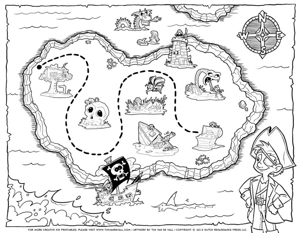 Treasure Map Coloring Pages Pirate Treasure Map Coloring Pages Free - Printable Pirate Map