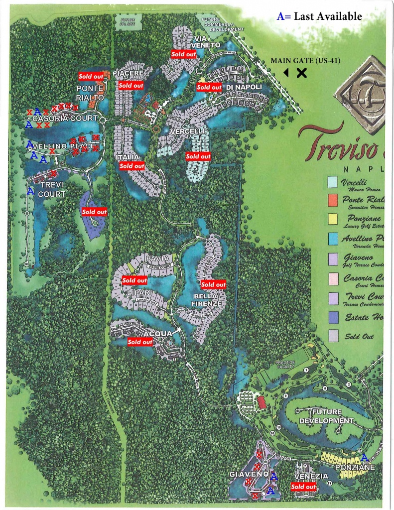 Treviso-Map – Treviso Bay Naples Fl - Golf Courses In Naples Florida Map