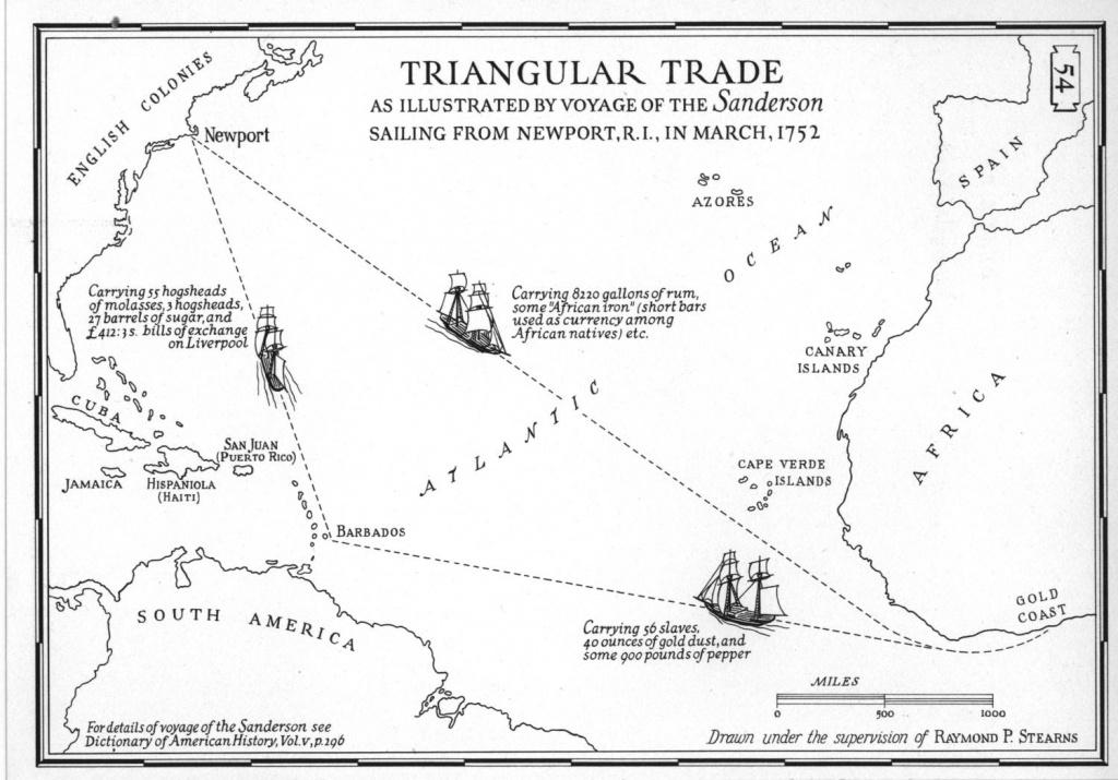 Triangular Trade - Triangular Trade Map Printable