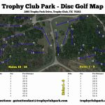 Trophy Club Park In Trophy Club, Tx   Disc Golf Course Review   Trophy Club Texas Map