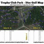 Trophy Club Park In Trophy Club, Tx   Disc Golf Course Review   Trophy Club Texas Map