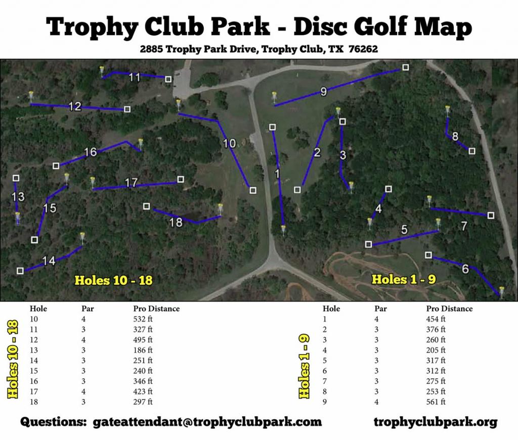 Trophy Club Park In Trophy Club, Tx - Disc Golf Course Review - Trophy Club Texas Map