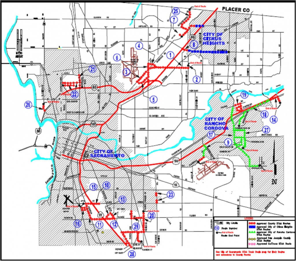 Truck Routes (Staa) - California Truck Routes Map