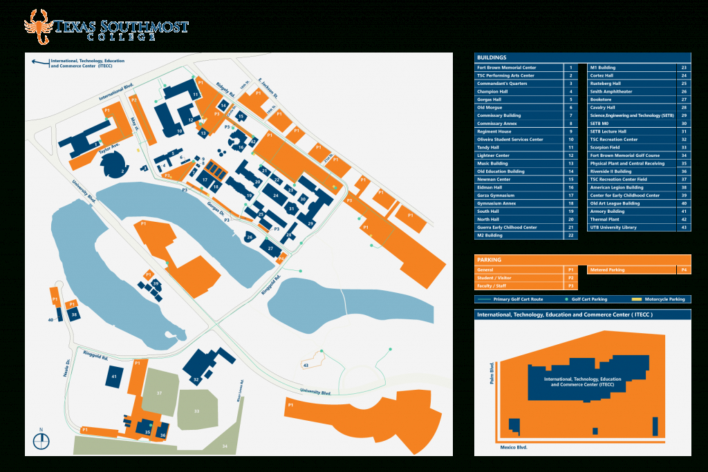 Tsc Campus Map - Texas Southmost College Map