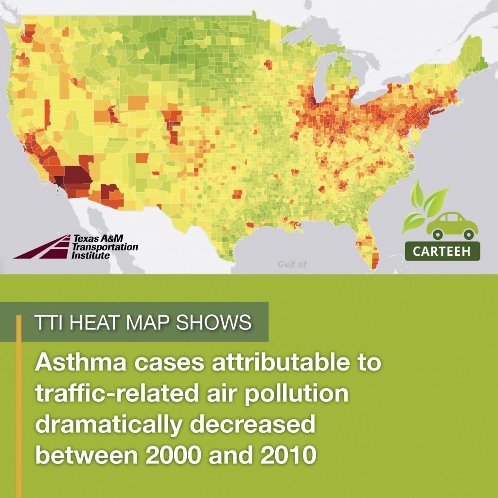 Tti Creates New Heat Map Showing Relationship Between Traffic - Texas Heat Map