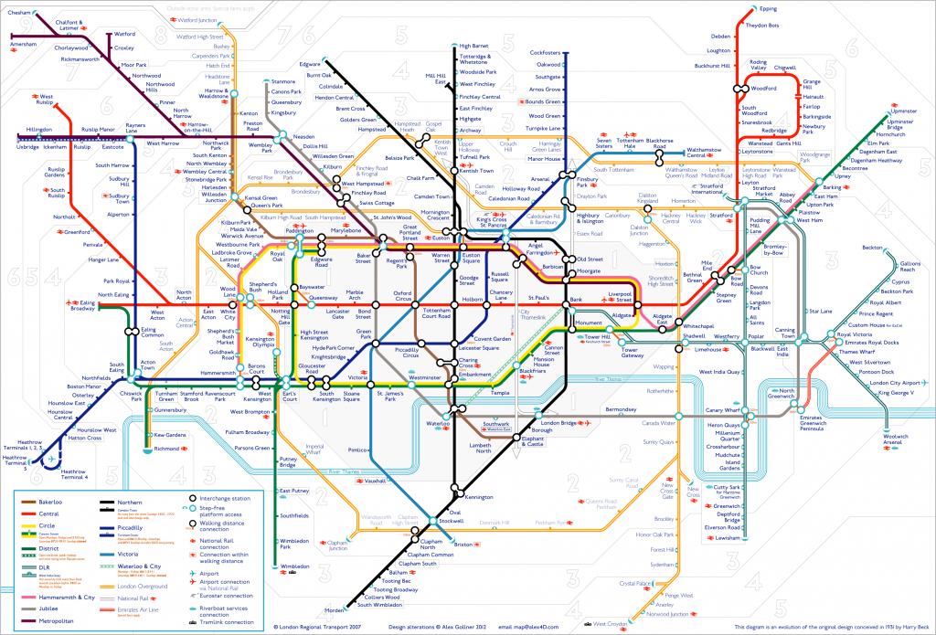 Tube Map | Alex4D Old Blog - London Metro Map Printable