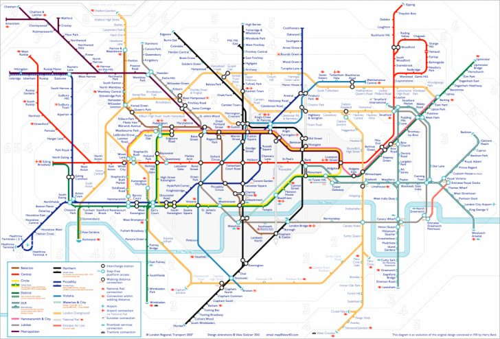 Printable Underground Map