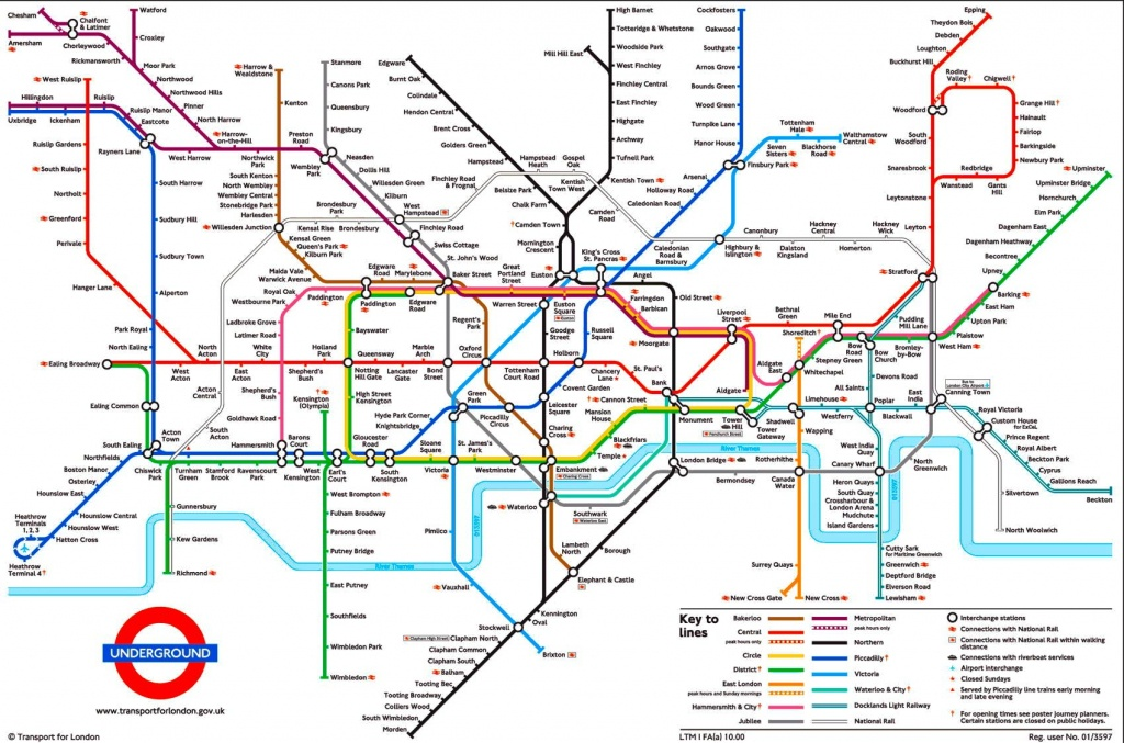 Tube Map, London Underground | L D N In 2019 | London Tube Map - Printable London Tube Map