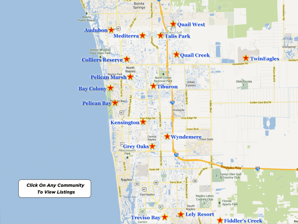 Twineagles Real Estate For Sale - Map Of Bonita Springs And Naples Florida