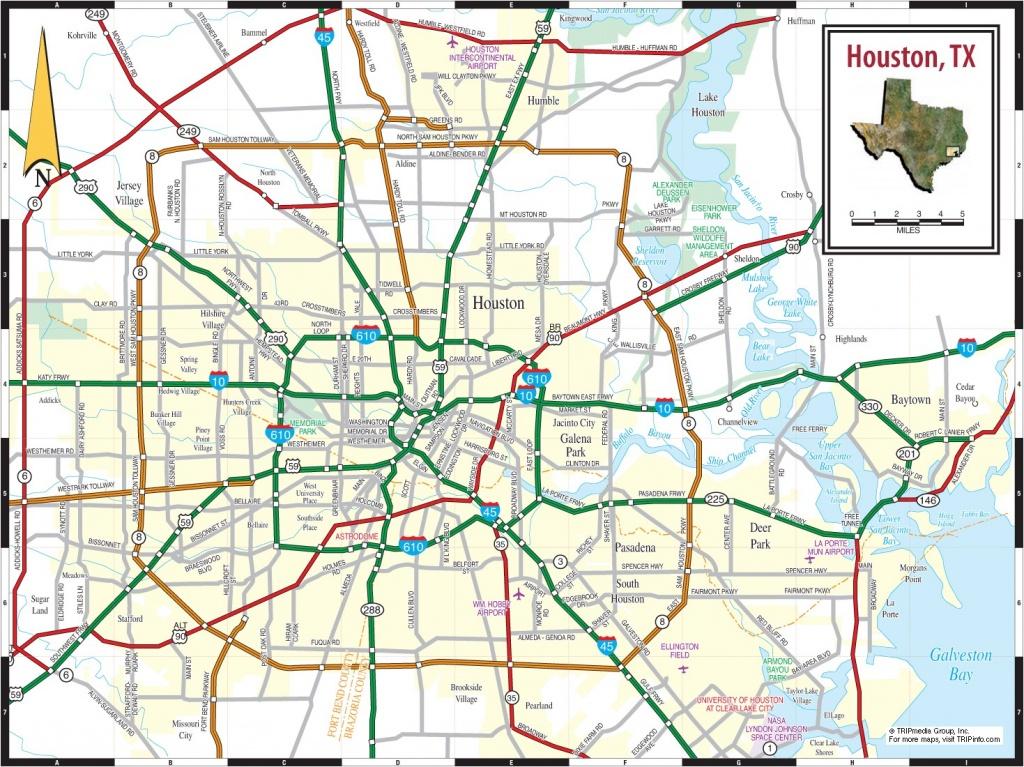 Tx Houston Free Downloads Maps Printable Texas Road Map In Printable - Road Map Of Houston Texas