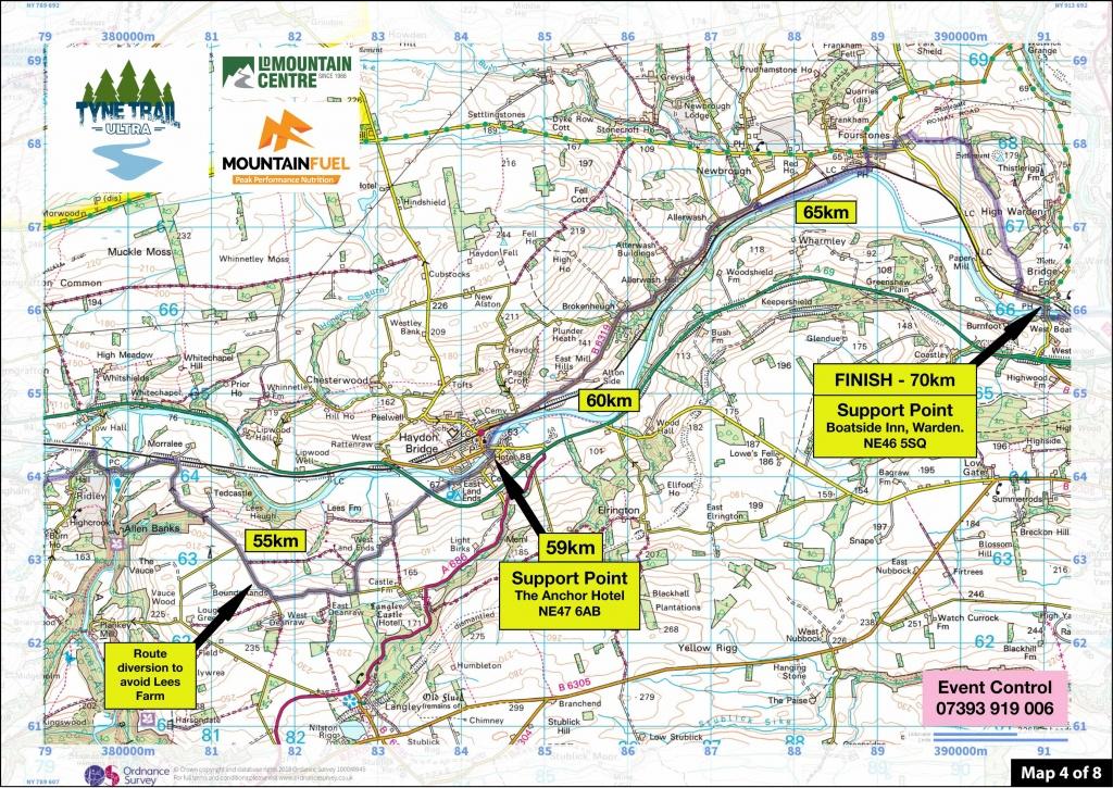 Tyne Trail Ultra | Route Maps Tyne Trail South - Printable Os Maps