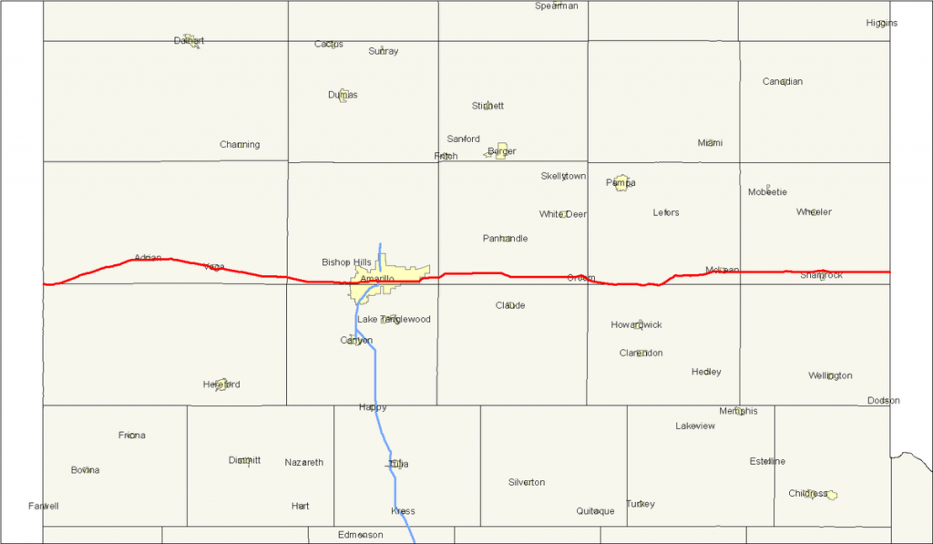 U.s. Route 66 In Texas - Wikipedia - Route 66 Texas Map