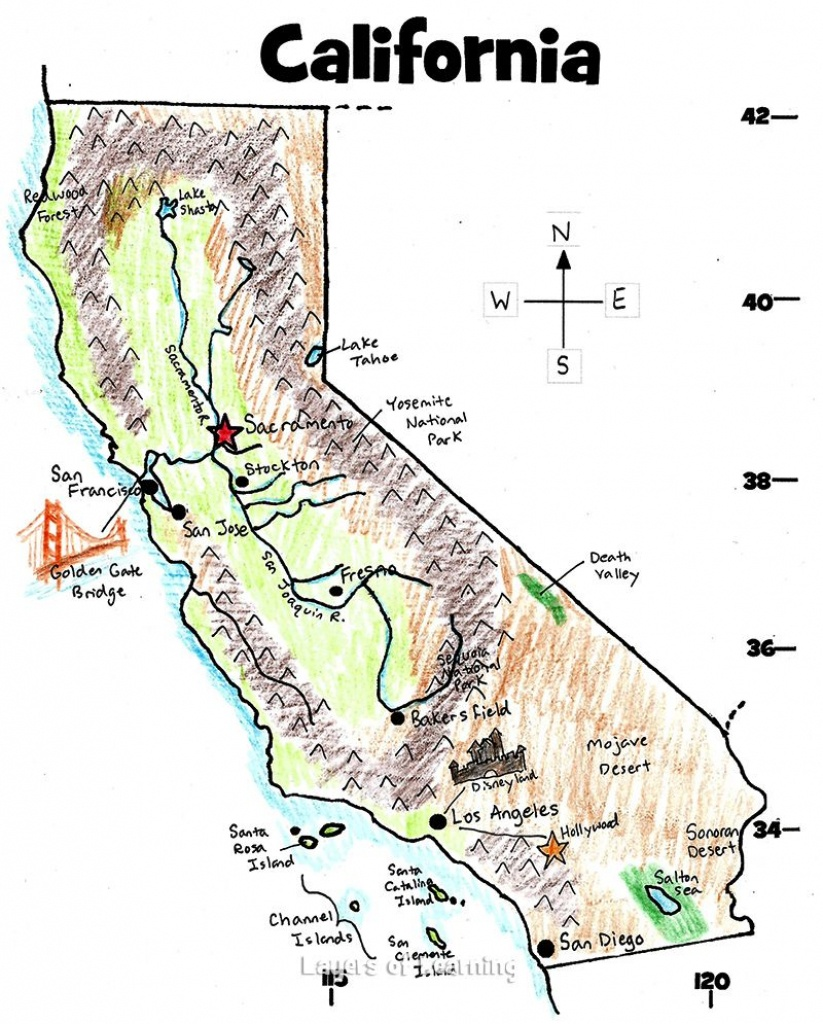 U.s. State Maps | California History | State Map, California Map - Printable Map Of California For Kids